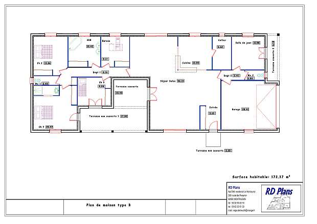 plan de maison 1930. Black Bedroom Furniture Sets. Home Design Ideas